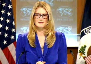 Marie Harf, spokesperson for the State Department
